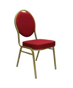 Palace Sillas para eventos o banquetes  con marco de aluminio, tapizados en GOLDEN RED. Medidas:  440*460*H930mm