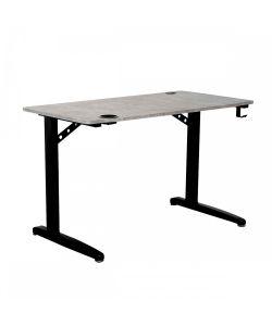 Aspen Práctico escritorio gamer, patas metálicas color negro, portavaso, porta audífonos y repisa. Medidas 1.20 x 0.68 x 0.75