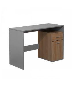 Kalli Innovador diseño de escritorio color gris, con gavetero incorporado. Medida 1.20 x.50 x 0.75 m