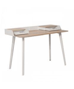 Annie Excelente elección de modelo, con un estilo elegante, cuya combinación de elementos en madera y metal logran un balance ideal. Medidas 1.20 x 0.60 x 0.75 m