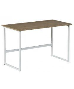 KALLA Escritorio funcional y mderno en acabados color madera y metal color blanco. Medidas 1.20 x 0.60 x 0.76 m