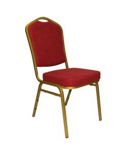 Majestic Sillas para eventos o banquetes, apilables con marco de aluminio, tapizados en LIGHT GOLDEN RED. Medidas:  440*460*H930mm