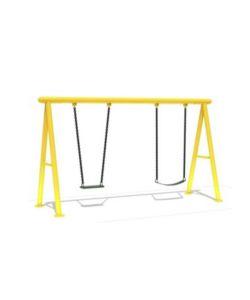 Sally Columpio doble en color amarillo. Medidas: 3.80x1.40x2.40