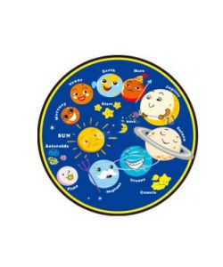 Moon Alfombra con estampado de planetas. Diametro: 2.00m