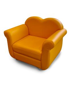 Kedi Sofa para niños en color amarillo de 1 puesto.