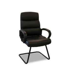 Anoa Silla Ejecutiva de vista con base de nylon negra fija.