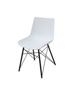 Natur Silla SOHO modera en acabado color blanco y patas negras.